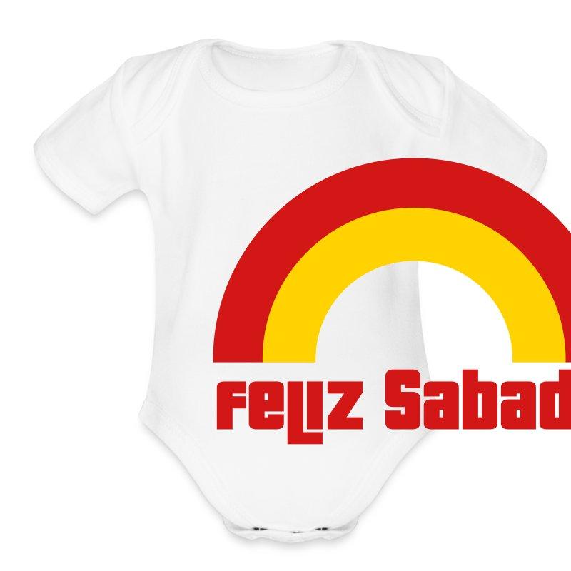 Feliz Sabado 2 Color B Baby    - Short Sleeve Baby Bodysuit
