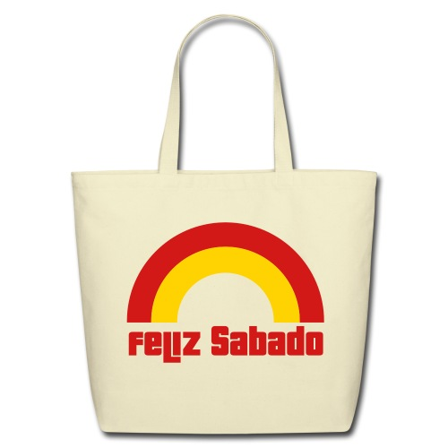 Feliz Sabado 2 Color Tote - Eco-Friendly Cotton Tote