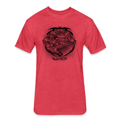 Tattoo Eagle - Fitted Cotton/Poly T-Shirt by Next Level