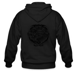 Tattoo Eagle - Men's Zip Hoodie