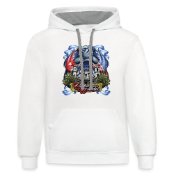 Cubano Unidos on WHT - Contrast Hoodie
