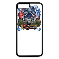 Cubano Unidos on WHT - iPhone 7 Plus/8 Plus Rubber Case
