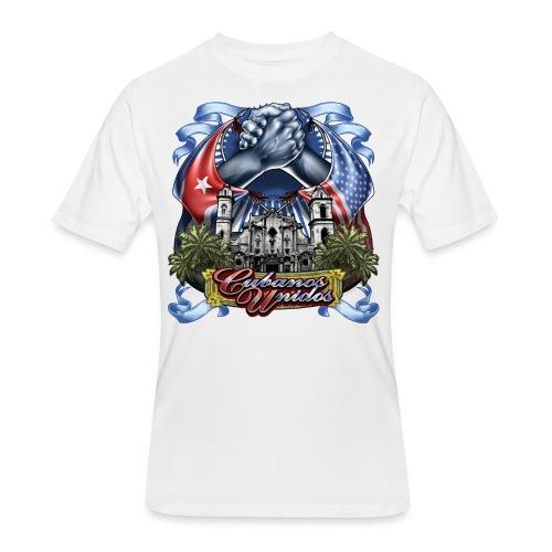 Cubano Unidos on WHT - Men's 50/50 T-Shirt