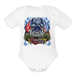 Cubano Unidos on WHT - Short Sleeve Baby Bodysuit