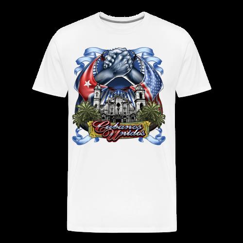 Cubano Unidos on WHT - Men's Premium T-Shirt