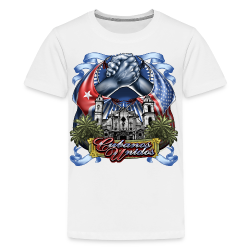 Cubano Unidos on WHT - Kids' Premium T-Shirt