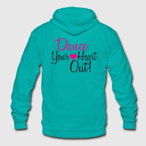 dance quote 1 Women's T-Shirts - Unisex Fleece Zip Hoodie by American Apparel