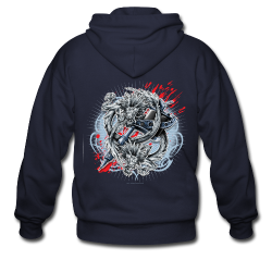 S-121 Dragon Tattoo Men's Tee - Men's Zip Hoodie