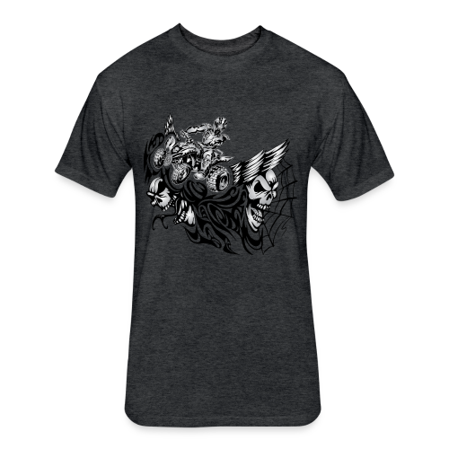 Quad Blazed Wickedness - Fitted Cotton/Poly T-Shirt by Next Level