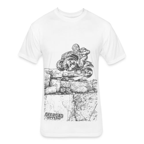 Quad Styled Rock Crawler - Fitted Cotton/Poly T-Shirt by Next Level