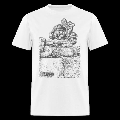 Quad Styled Rock Crawler - Men's T-Shirt