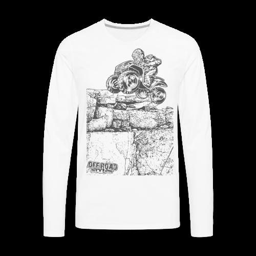 Quad Styled Rock Crawler - Men's Premium Long Sleeve T-Shirt