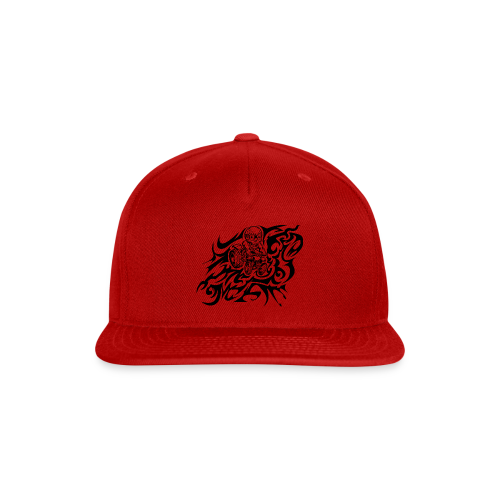 Flamed Skully - Snap-back Baseball Cap