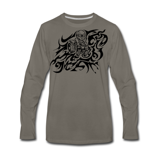 Flamed Skully - Men's Premium Long Sleeve T-Shirt