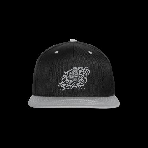Flamed Skully - Snap-back Baseball Cap