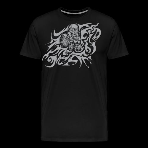 Flamed Skully - Men's Premium T-Shirt