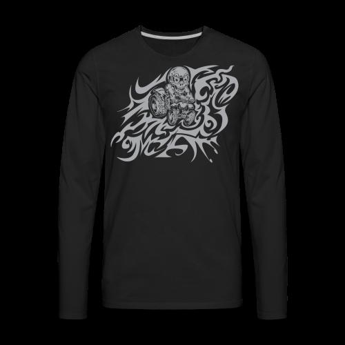 Flamed Skully - Men's Premium Long Sleeve T-Shirt
