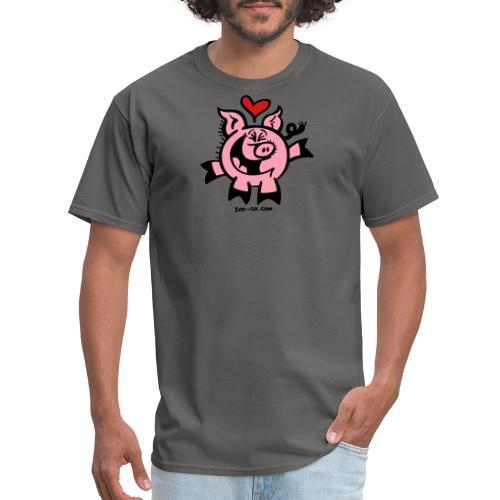 Pig Falling Head over Heels in Love - Men's T-Shirt