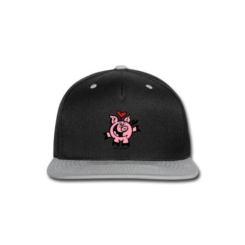 Pig Falling Head over Heels in Love - Snap-back Baseball Cap