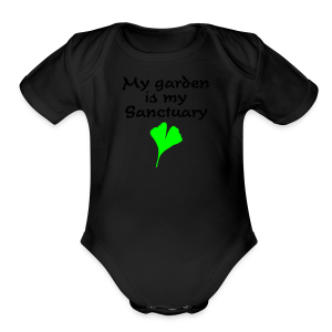 My Garden is my Sanctuary Organic T-Shirt (Gold) - Short Sleeve Baby Bodysuit