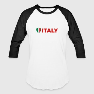 Italy Emblem Side 1 (3c) Long Sleeve Shirts - Baseball T-Shirt