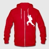 Karate - Unisex Fleece Zip Hoodie by American Apparel