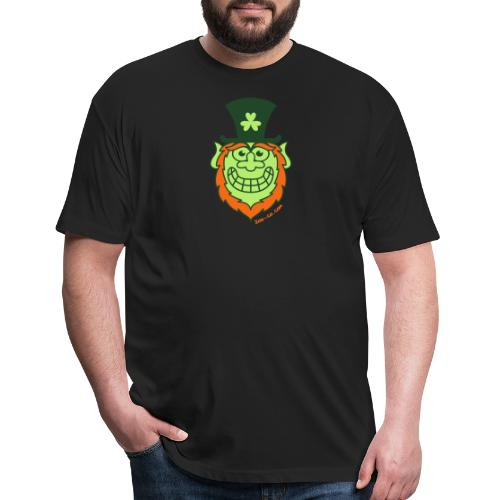 St Paddy's Day Naughty Leprechaun - Fitted Cotton/Poly T-Shirt by Next Level