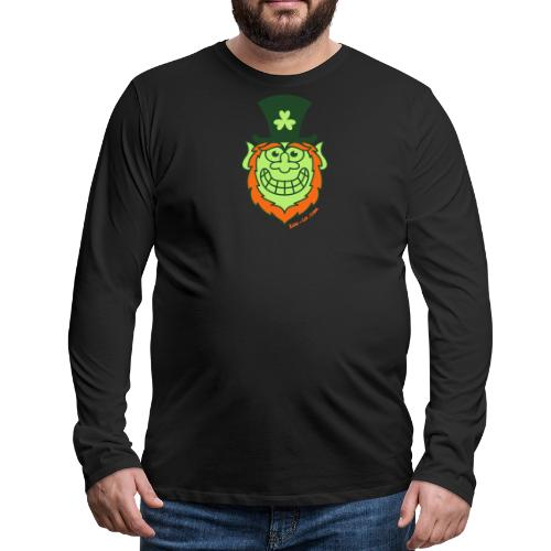 St Paddy's Day Naughty Leprechaun - Men's Premium Long Sleeve T-Shirt