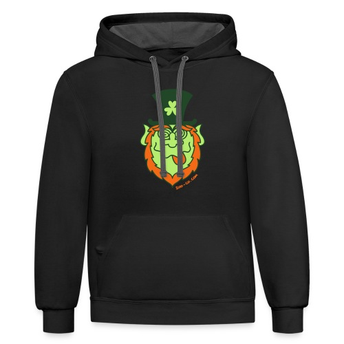 St Paddy's Day Mad Leprechaun - Contrast Hoodie