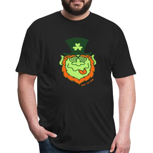 St Paddy's Day Mad Leprechaun - Fitted Cotton/Poly T-Shirt by Next Level