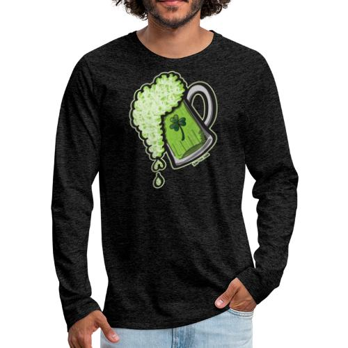 Saint Patrick's Day Glass of Beer - Men's Premium Long Sleeve T-Shirt
