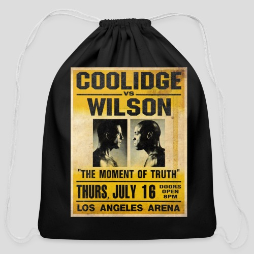 Pulp Fiction: Coolidge vs. Wilson [SPECIAL OFFER] - Cotton Drawstring Bag