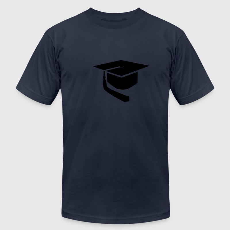 Graduation hat T-Shirts - Men's T-Shirt by American Apparel