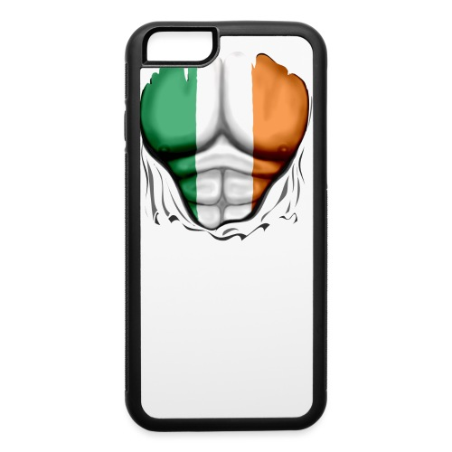 Ireland Flag Ripped Muscles, six pack, chest t-shirt - iPhone 6/6s Rubber Case