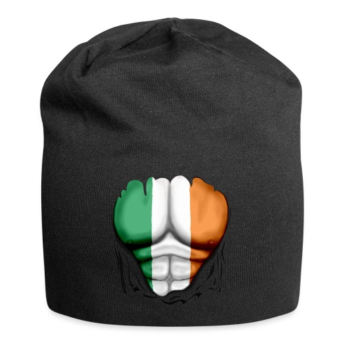 Ireland Flag Ripped Muscles, six pack, chest t-shirt - Jersey Beanie