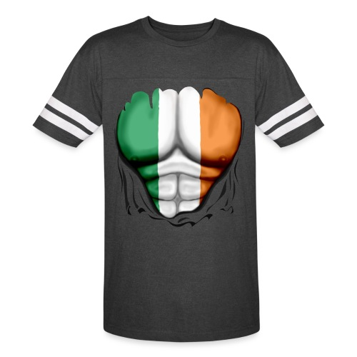 Ireland Flag Ripped Muscles, six pack, chest t-shirt - Vintage Sport T-Shirt