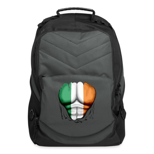 Ireland Flag Ripped Muscles, six pack, chest t-shirt - Computer Backpack