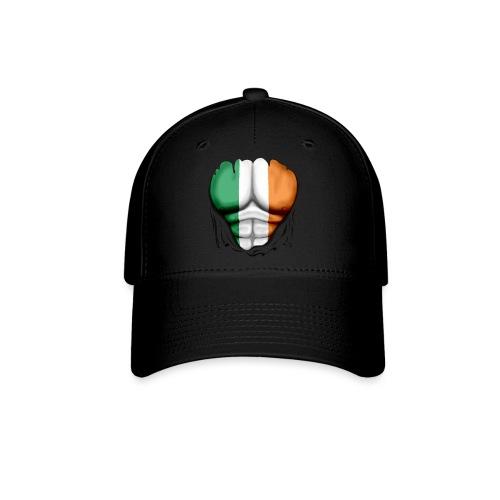 Ireland Flag Ripped Muscles, six pack, chest t-shirt - Baseball Cap