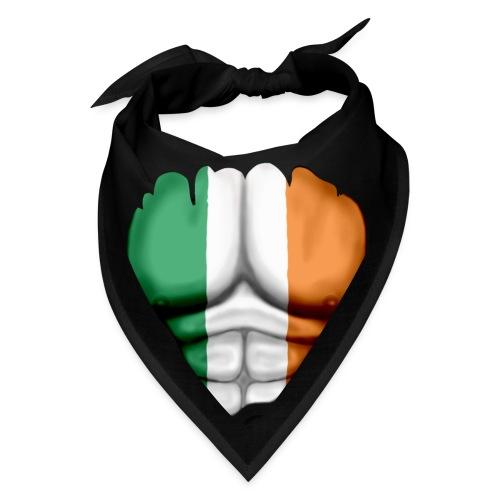Ireland Flag Ripped Muscles, six pack, chest t-shirt - Bandana