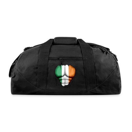 Ireland Flag Ripped Muscles, six pack, chest t-shirt - Duffel Bag