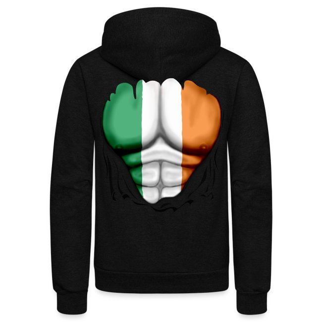 Ireland Flag Ripped Muscles, six pack, chest t-shirt