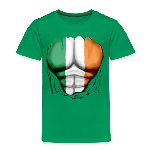 Ireland Flag Ripped Muscles, six pack, chest t-shirt - Toddler Premium T-Shirt