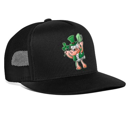 Saint Paddy's Day Sheep Drinking Beer - Trucker Cap