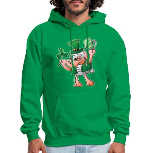 Saint Paddy's Day Sheep Drinking Beer - Men's Hoodie