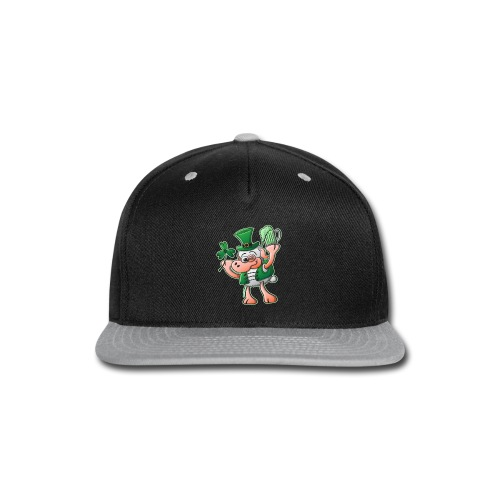 Saint Paddy's Day Sheep Drinking Beer - Snap-back Baseball Cap