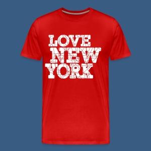 Love New York Sliced - Men's Premium T-Shirt