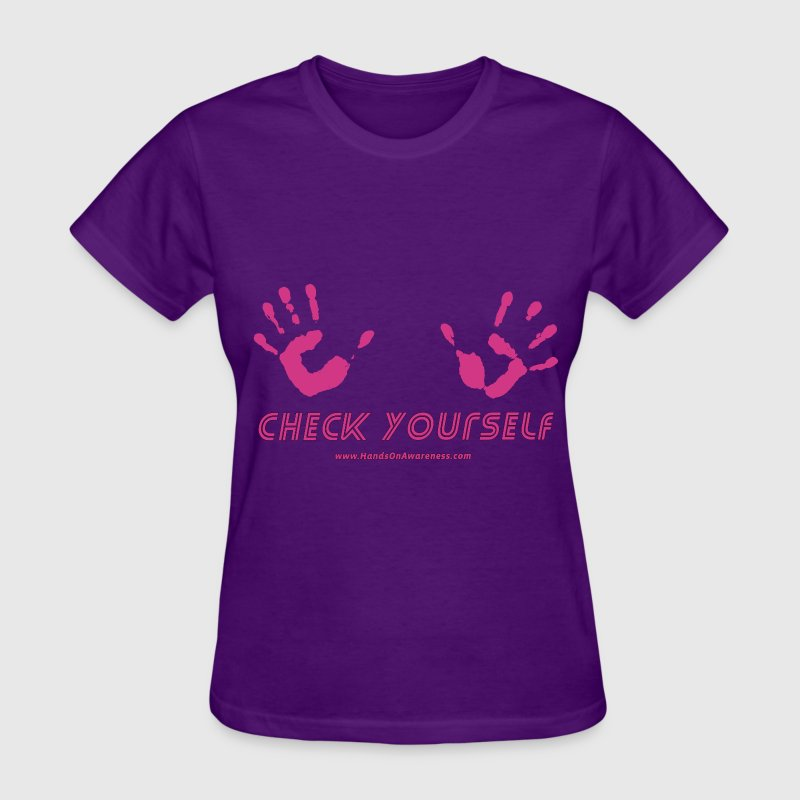 Check Yourself - For breast cancer awareness Women's T-Shirts - Women's T-Shirt
