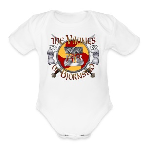 Large Vikings of Bjornstad Campaign Button - Short Sleeve Baby Bodysuit