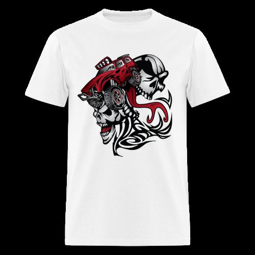 Flamed Skull Truck - Men's T-Shirt