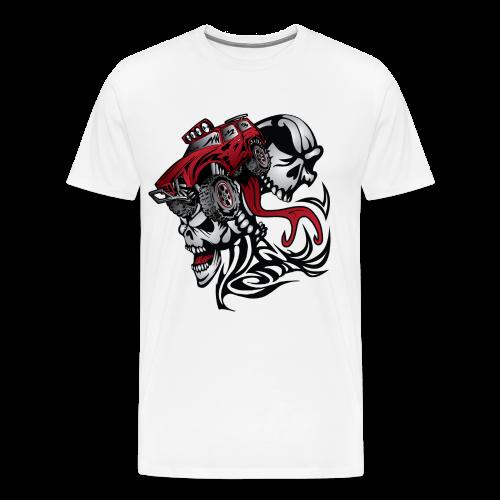 Flamed Skull Truck - Men's Premium T-Shirt